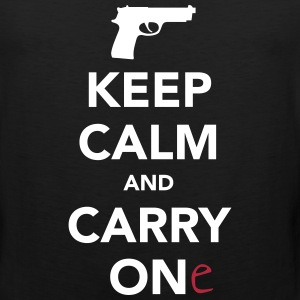 Keep Calm and Carry One - Pro Gun Sportswear - Men's Premium Tank