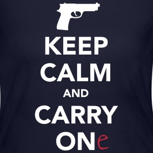 Keep Calm and Carry One - Pro Gun Long Sleeve Shirts - Women's Long Sleeve Jersey T-Shirt