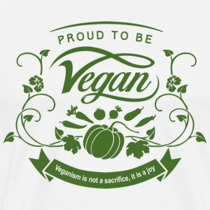 Proud to be Vegan Green - Men's Premium T-Shirt