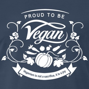 Proud to be Vegan White - Men's Premium T-Shirt