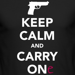 Keep Calm and Carry One - Pro Gun Long Sleeve Shirts - Men's Long Sleeve T-Shirt by Next Level