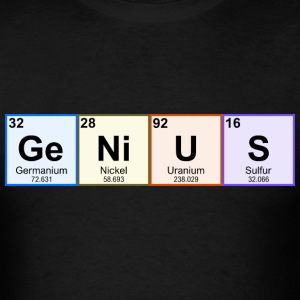 Periodic Table GeNiUS - Men's T-Shirt