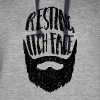 Resting Itch Face - Funny Beard PUn Hoodies - Colorblock Hoodie