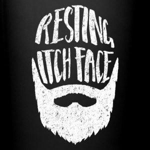 Resting Itch Face - Funny Hipster Beard Mugs & Drinkware - Full Color Mug