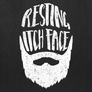 Resting Itch Face - Funny Hipster Beard Bags & backpacks - Tote Bag