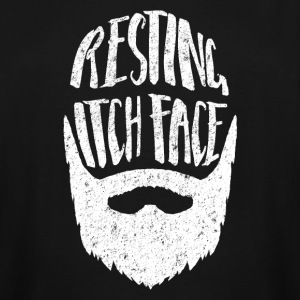 Resting Itch Face - Funny Hipster Beard T-Shirts - Men's Tall T-Shirt