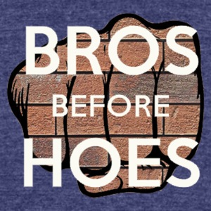 Bros before hoes - Unisex Tri-Blend T-Shirt