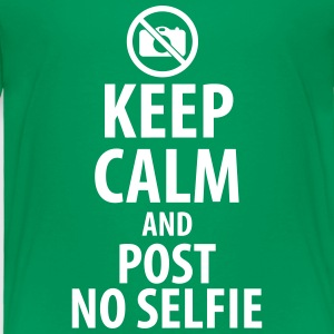 Keep calm and post no selfie Baby & Toddler Shirts - Toddler Premium T-Shirt