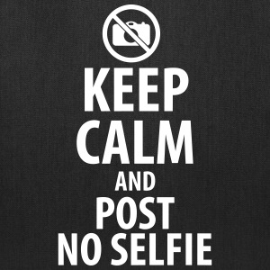 Keep calm and post no selfie Bags & backpacks - Tote Bag