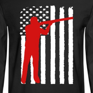 Sports Shooting Flag - Men's Long Sleeve T-Shirt