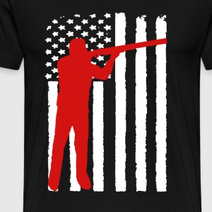 Sports Shooting Flag - Men's Premium T-Shirt