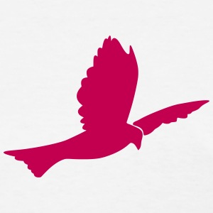 Dove (Flying Dove Bird) Silhouette T-Shirts - Women's T-Shirt