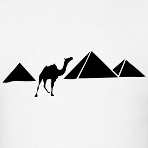 Pyramids of Giza, Egypt (Camel) Silhouette T-Shirts - Men's T-Shirt