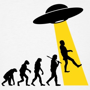 Evolution (UFO Abduction) T-Shirts - Men's T-Shirt