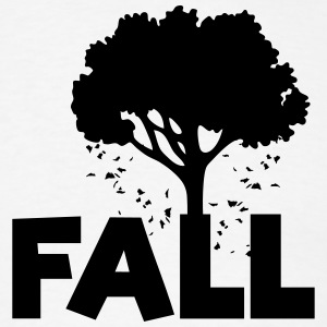 FALL (Tree, Leaves Falling Art) T-Shirts - Men's T-Shirt