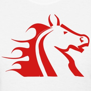 Fire Horse (Flames) T-Shirts - Women's T-Shirt