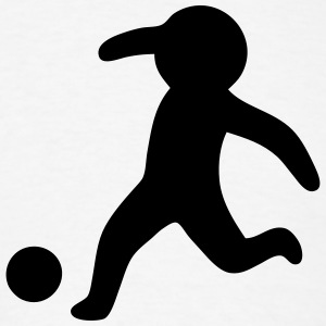 Football / Soccer Stickman, Stickfigure T-Shirts - Men's T-Shirt