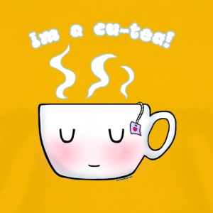 """I'm a Cu-Tea"" Pun Design T-Shirts - Men's Premium T-Shirt"