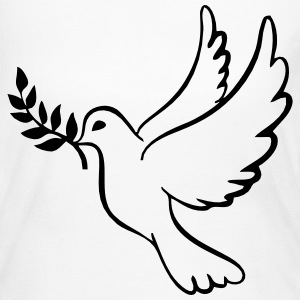 Peace Dove With Olive Branch Long Sleeve Shirts - Women's Long Sleeve Jersey T-Shirt