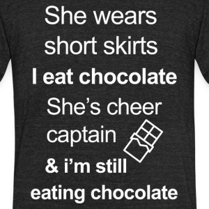 Funny Chocolate Lover - Unisex Tri-Blend T-Shirt by American Apparel