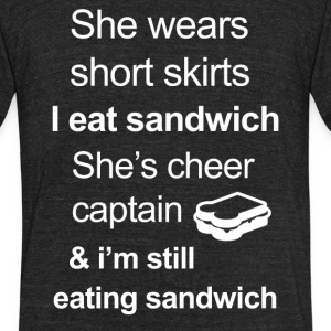 Funny Sandwich Lover - Unisex Tri-Blend T-Shirt by American Apparel