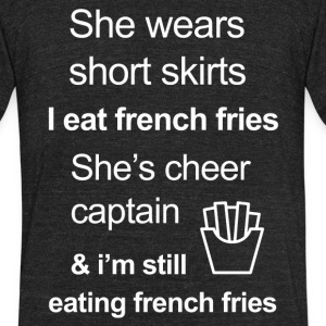Funny French Fries Lover - Unisex Tri-Blend T-Shirt by American Apparel