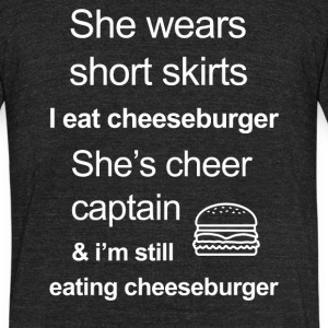 Funny Cheeseburger Lover - Unisex Tri-Blend T-Shirt by American Apparel
