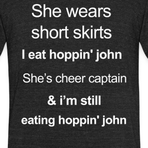 Funny hoppin john Lover - Unisex Tri-Blend T-Shirt by American Apparel