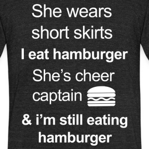Funny Hamburger Lover - Unisex Tri-Blend T-Shirt by American Apparel