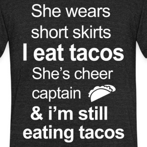 Funny Tacos Lover - Unisex Tri-Blend T-Shirt by American Apparel