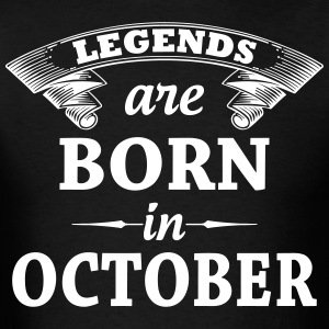 Legends Are Born In October T-Shirts - Men's T-Shirt