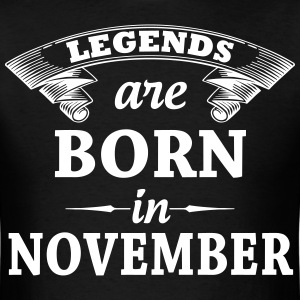 Legends Are Born In November T-Shirts - Men's T-Shirt