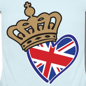 Royal Crown Union Jack Heart - Baby Short Sleeve One Piece