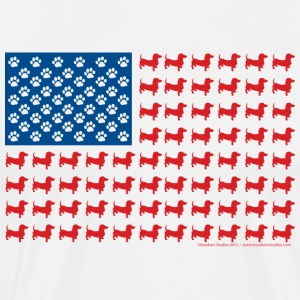 Patriotic American Flag of Dachshunds - Men's Premium T-Shirt