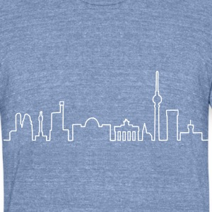 Skyline of Berlin T-Shirts - Unisex Tri-Blend T-Shirt by American Apparel