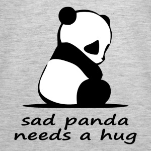 sad panda needs a hug - Women's Premium Tank Top