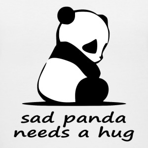 sad panda needs a hug - Women's V-Neck T-Shirt