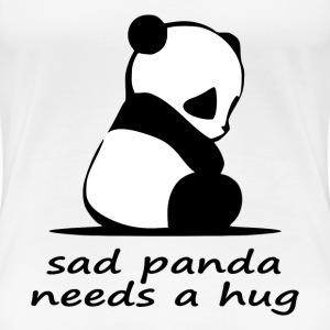 sad panda needs a hug - Women's Premium T-Shirt