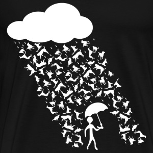 Cat and Dog Rain - Men's Premium T-Shirt