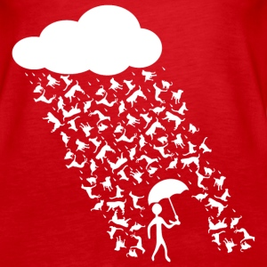 Cat and Dog Rain - Women's Premium Tank Top