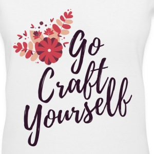 Go Craft Yourself - Purple - Women's V-Neck T-Shirt