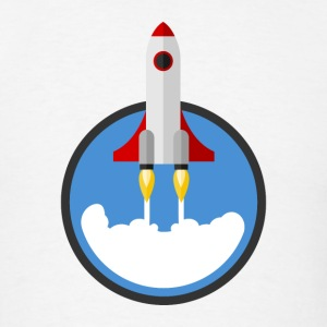 Starting Rocket Round Logo T-Shirts - Men's T-Shirt