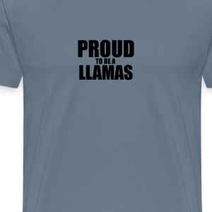 Proud to be a llamas T-Shirts - Men's Premium T-Shirt