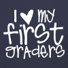 Love My First Graders | Chalk - Women's V-Neck T-Shirt
