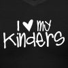 Love My Kinders | Chalk - Women's V-Neck T-Shirt