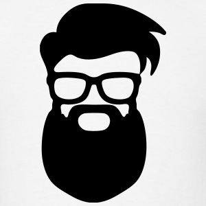 Large Bearded Hipster Man with Glasses (Beard) T-Shirts - Men's T-Shirt