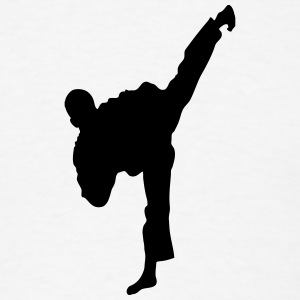 Taekwondo High Kick Silhouette T-Shirts - Men's T-Shirt