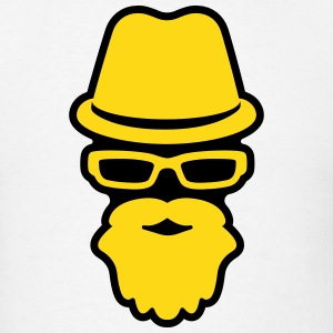 Fedora, Glasses and Beard Hipster T-Shirts - Men's T-Shirt