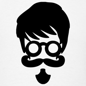 Retro Hipster Glasses, Mustache T-Shirts - Men's T-Shirt