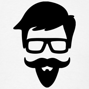 Hipster Glasses, Mustache T-Shirts - Men's T-Shirt